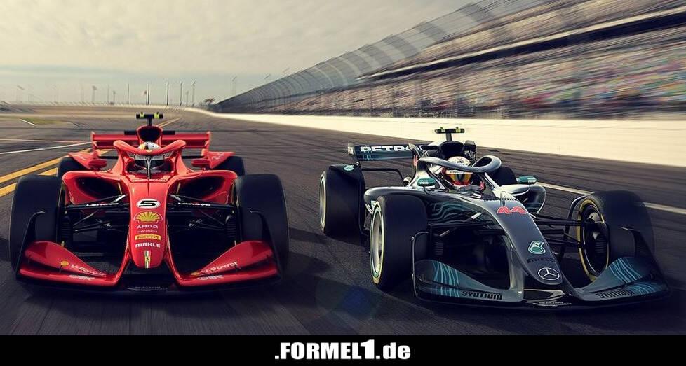 Formel 1 2021: Liberty Media präsentiert drei Konzeptautos - Formel1 ...