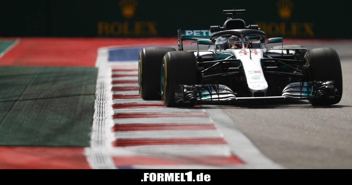 F1 Sotschi Startaufstellung