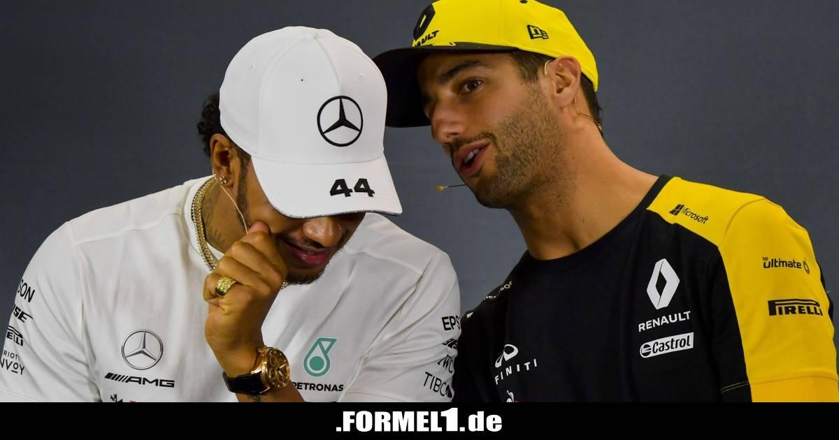 Formel-1-Live-Ticker: Was Hamilton mit Ricciardos Renault-Wechsel zu tun hat - Formel1.de-F1-News