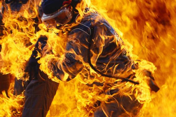 Jos Verstappen Feuerunfall
