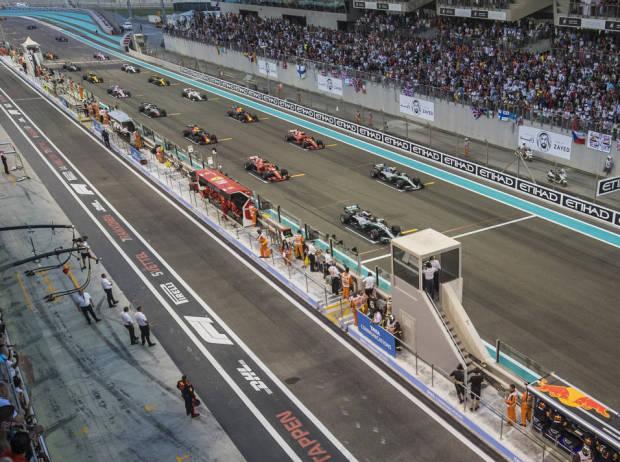 Startaufstellung Formel 1