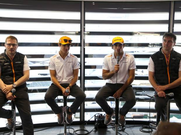 Lando Norris, Carlos Sainz, James Key