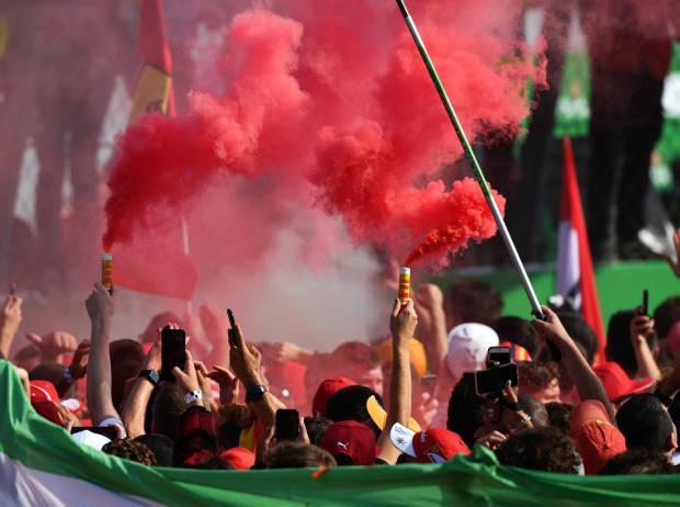 Fans auf Start-Ziel in Monza
