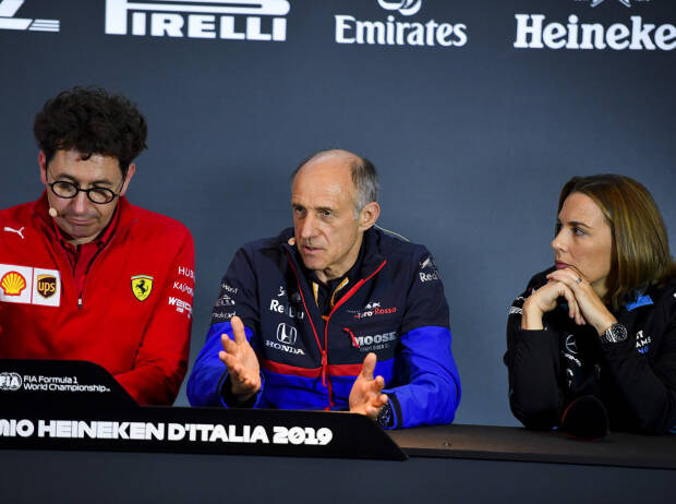 Mattia Binotto, Franz Tost, Claire Williams