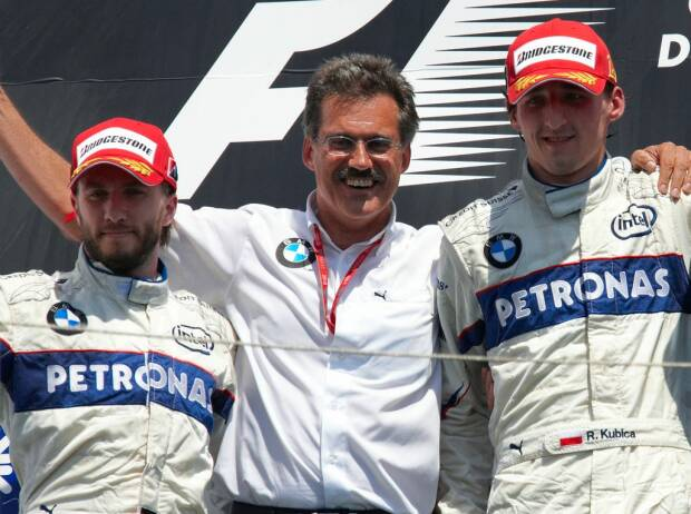 Nick Heidfeld, Mario Theissen, Robert Kubica, David Coulthard