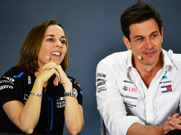 Toto Wolff, Claire Williams